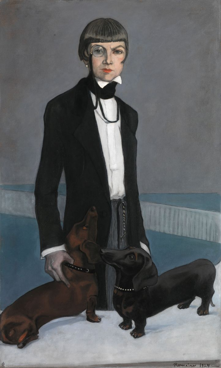 Romaine Brooks - Una, Lady Troudbridge - 1924