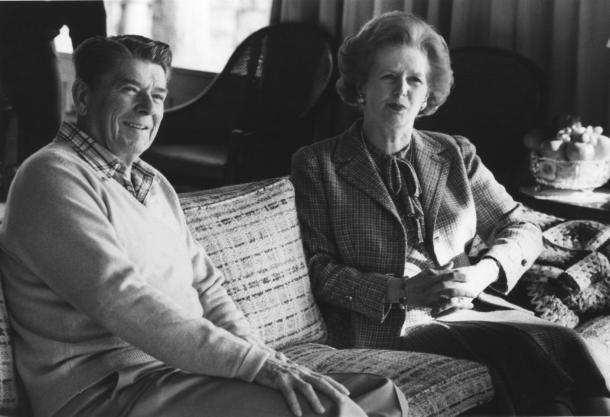 Margaret-Thatcher-and-Pres-Ronald-Reagan-meet-at-Camp-David