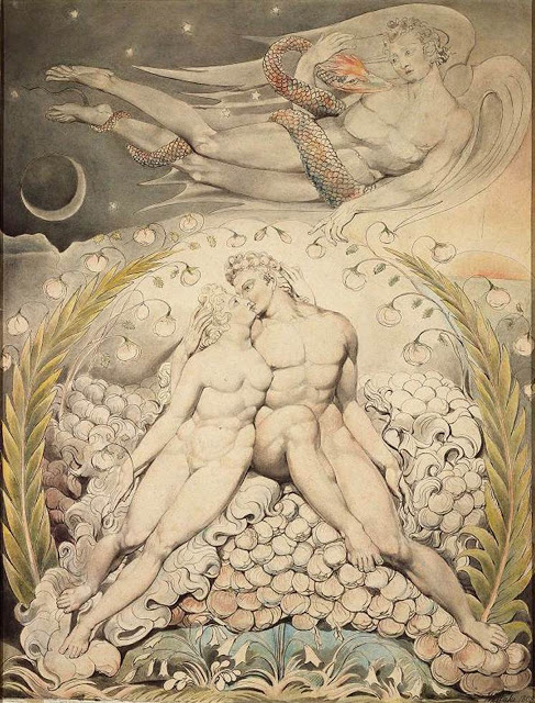 Blake, Paradise Lost - Satan Watching Caresses of Adam & Eve 1808