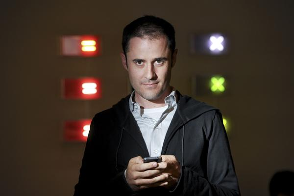 Evan Williams, Twitter co-founder and former CEO, poses in San Francisco.