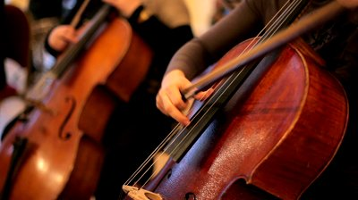 stock-footage-several-cellist-playing-on-cello-in-the-orchestra-rehearsal