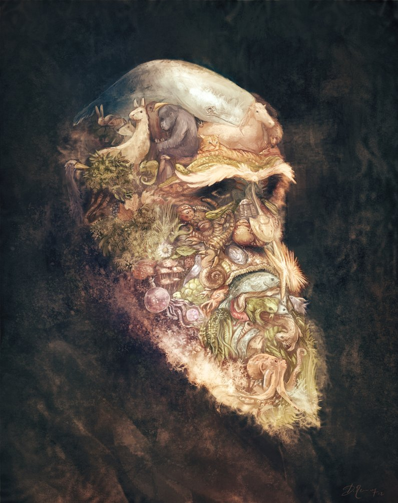 portrait_of_charles_darwin_by_deevad-d5l99xe