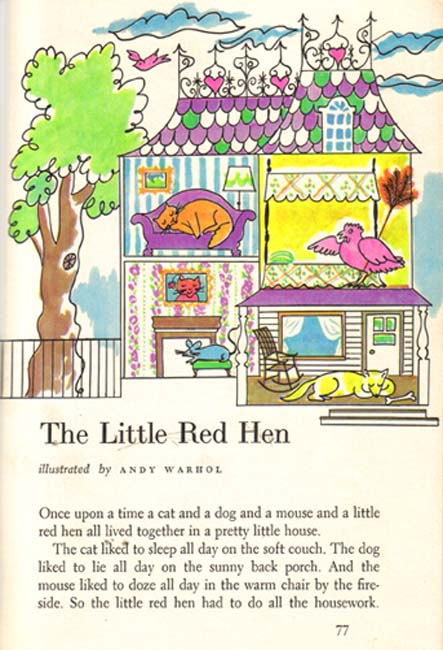 Little Red Hen Andy Warhol