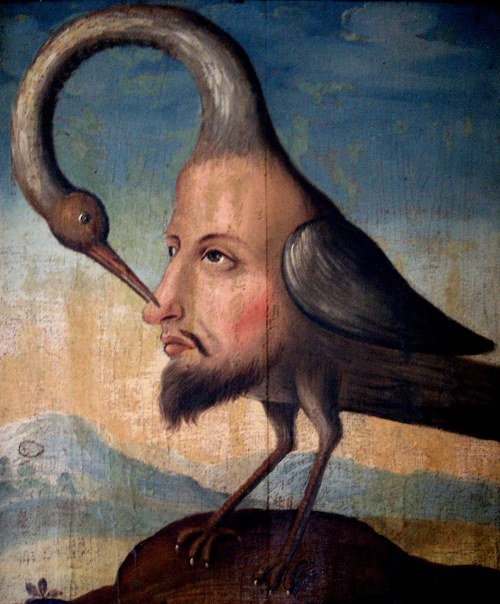 "Imagen: ""The Bird of Self-Knowledge"", Anónimo, siglo XVIII. Wikimedia Commons"
