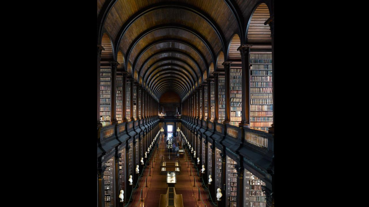 The Long Room of Trinity College Library in Dublin