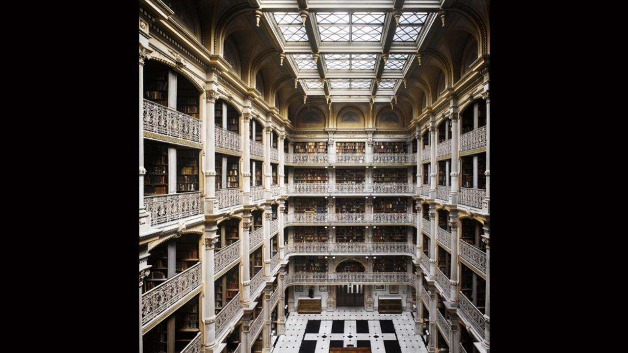 George Peabody Library at Johns Hopkins University in Baltimore