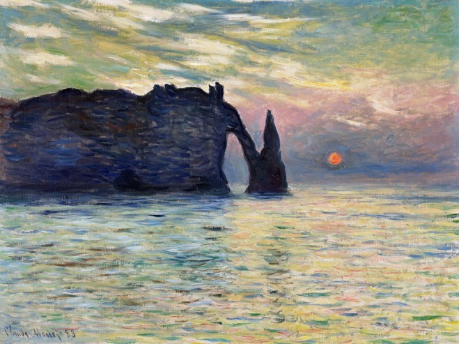 Étretat-Sunset-by-Monet-659x493