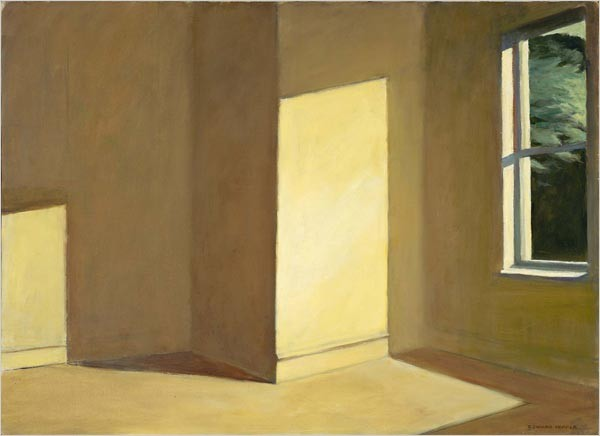 "Edward Hopper, ""Sun in an empty room"", 1963"