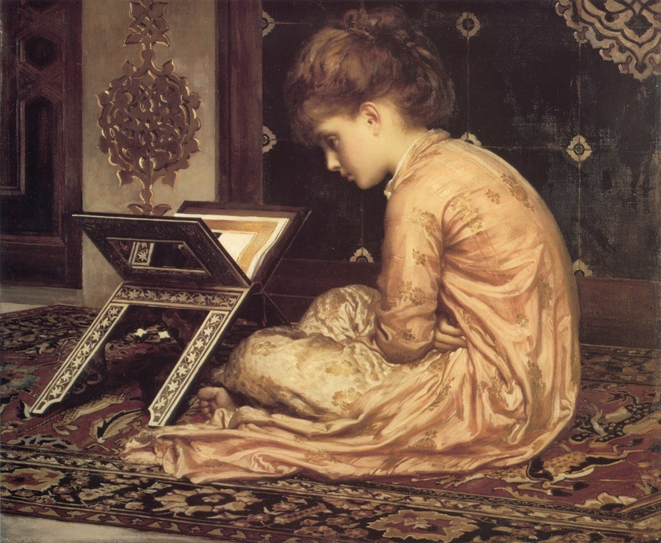 Study_at_a_Reading_Desk_-_Frederic_Leighton_(1877)