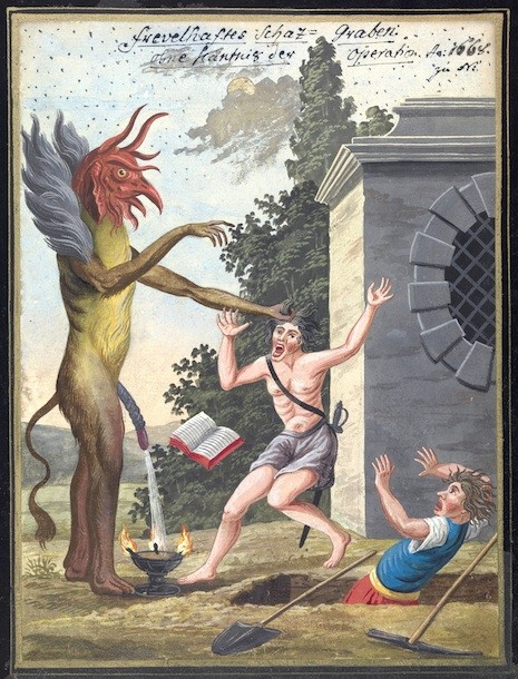 L0076363 A compendium about demons and magic. MS 1766.