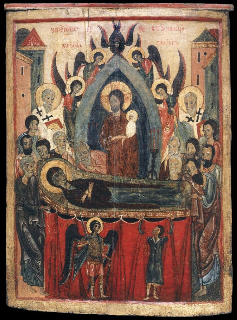 Unknown_painter_-_The_Dormition_of_the_Mother_of_God_-_WGA23493