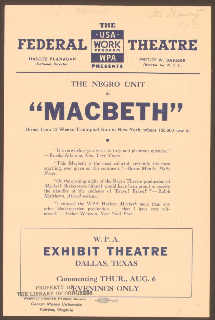 Voodoo-Macbeth-Playbill