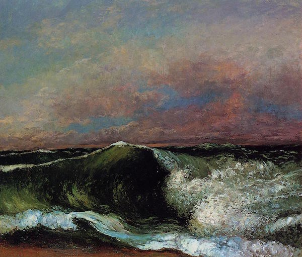 "Gustave Courbet, ""The Wave"" (1869)"